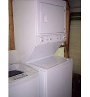 Front Load Stacking Washer and Dryer Set